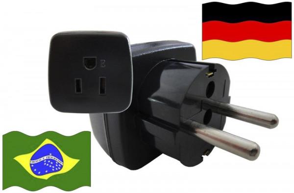 Urlaubsstecker Deutschland für Geräte aus Brasilien