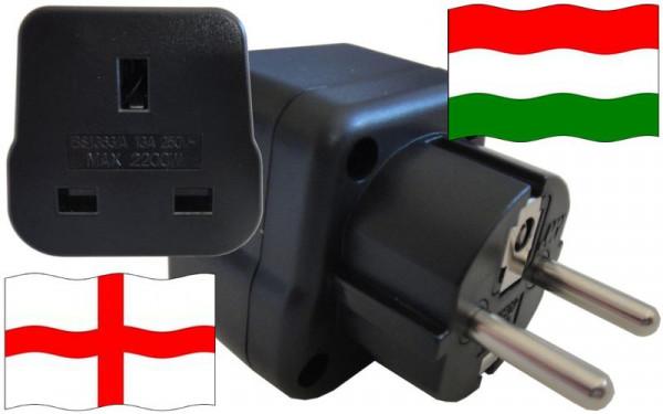Reiseadapter Ungarn für Geräte aus England