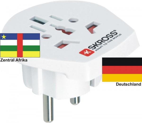Reiseadapter Deutschland-Zentral Afrika - Skross 1.500211 Reisestecker