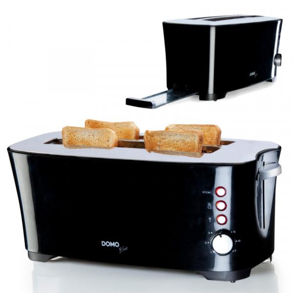 4 Scheiben Toaster, Brotröster mit 7 Bräunungsstufen DOMO DO961T