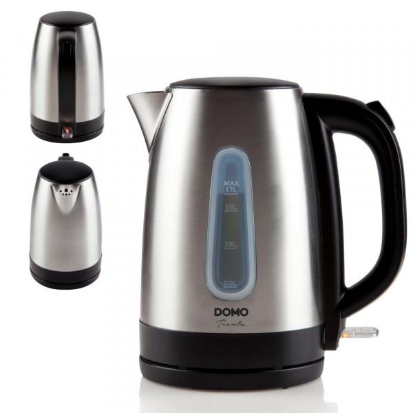 Edelstahl Wasserkocher 1,7 Liter Fassungsvermögen 2200 Watt DOMO DO496WK
