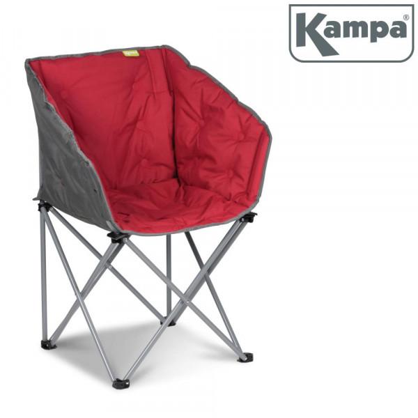 Gepolsterter Campingstuhl / Lounge-Sessel Kampa EXTREMER Komfort FT0053 rot