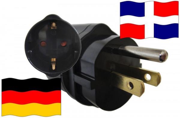 Urlaubsadapter DomRep. für Geräte aus Deutschland