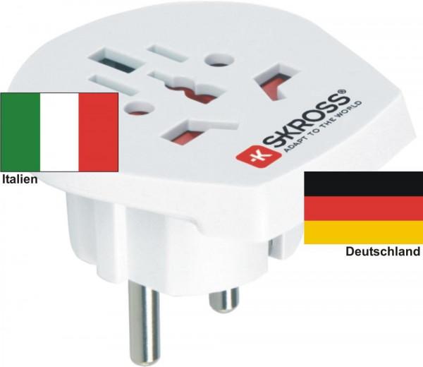 Reiseadapter Deutschland auf Italien - Skross 1.500211 Reisestecker