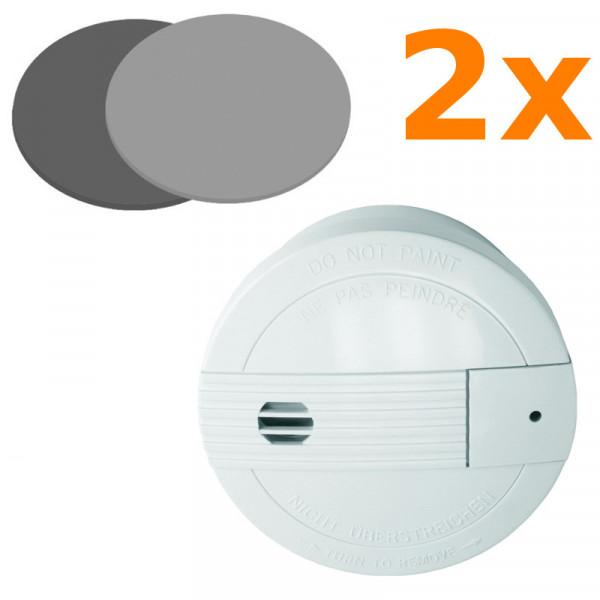 2 Rauchmelder Smartwares SA68B + 2 Magnethalter Elro RMAG 4