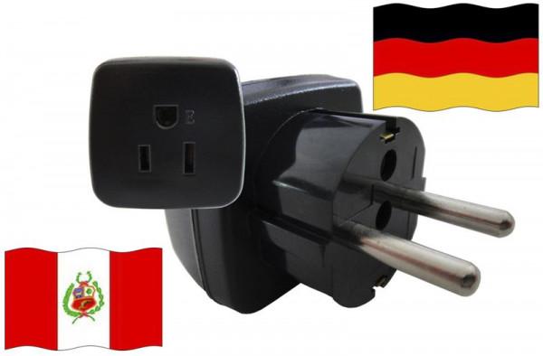 Urlaubsstecker Deutschland für Geräte aus Peru