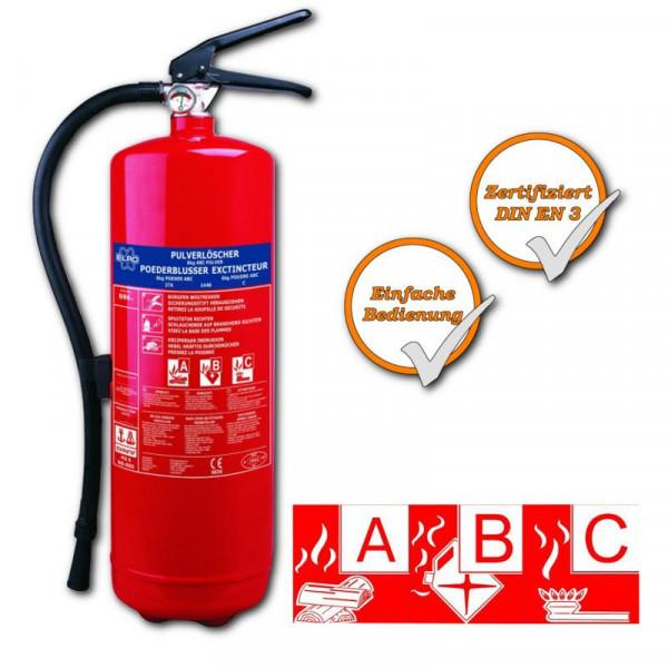 Feuerlöscher 6 Kg. SW BB6 6 Kg Pulverlöscher zum schnellen Feuer löschen!