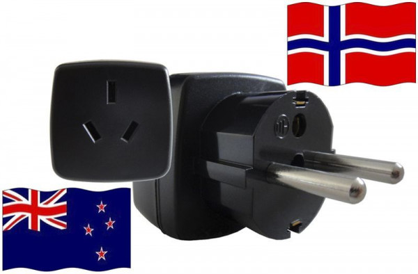 Reiseadapter Norwegen - Kompatibel mit Geräten aus Neuseeland