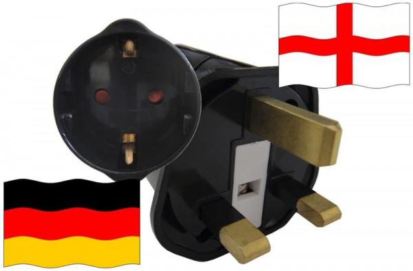 Urlaubsstecker England für Geräte aus Deutschland