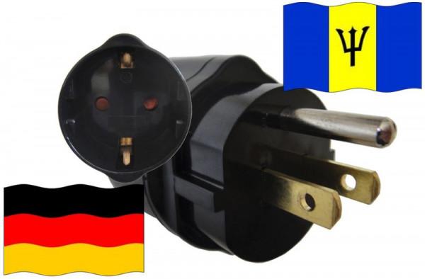 Urlaubsadapter Barbados für Geräte aus Deutschland
