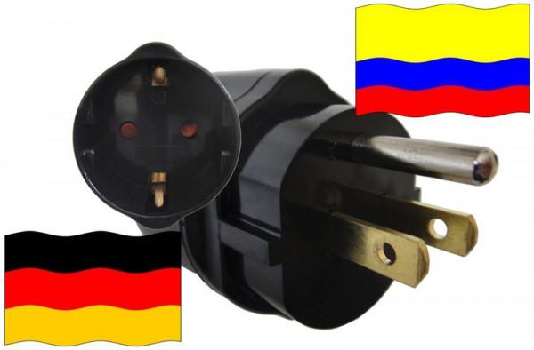 Urlaubsadapter Kolumbien für Geräte aus Deutschland