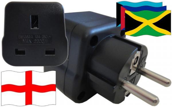 Reiseadapter Karibik für Geräte aus England
