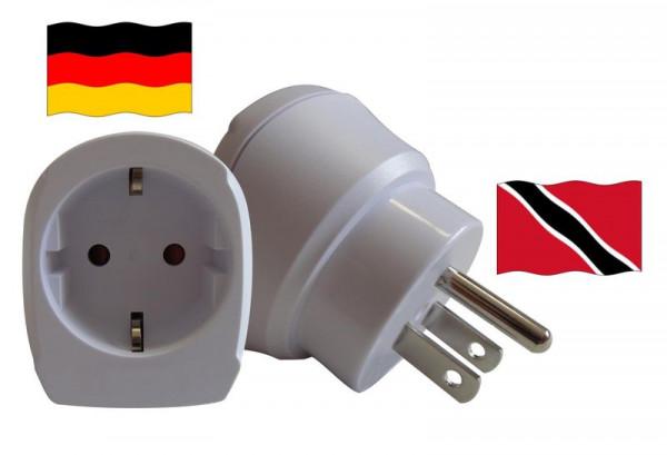 Reiseadapter für Trinidad-Tobago. Steckeradapter für Geräte aus Deutschland
