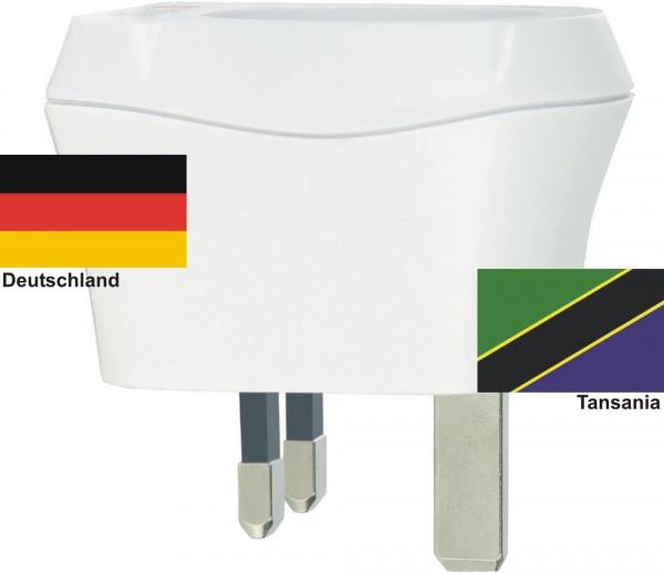 Reiseadapter Tansania auf Deutschland Skross 1.500230 Reisestecker