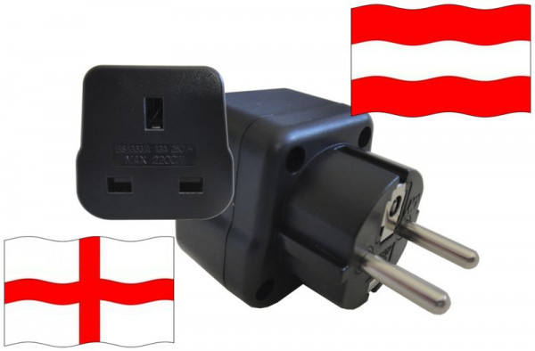 Urlaubsstecker Österreich für Geräte aus England