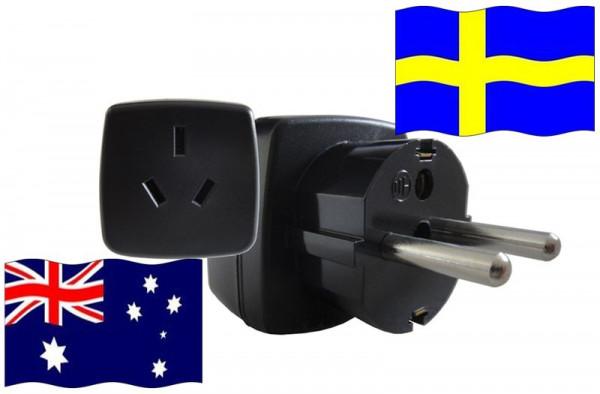 Reiseadapter Schweden - Kompatibel mit Geräten aus Australien