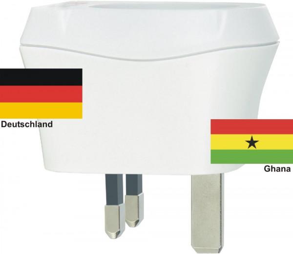 Reiseadapter Ghana auf Deutschland Skross 1.500230 Reisestecker