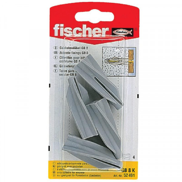 Fischer 4 x Gasbetondübel GB 8 K 52491 4 Stück
