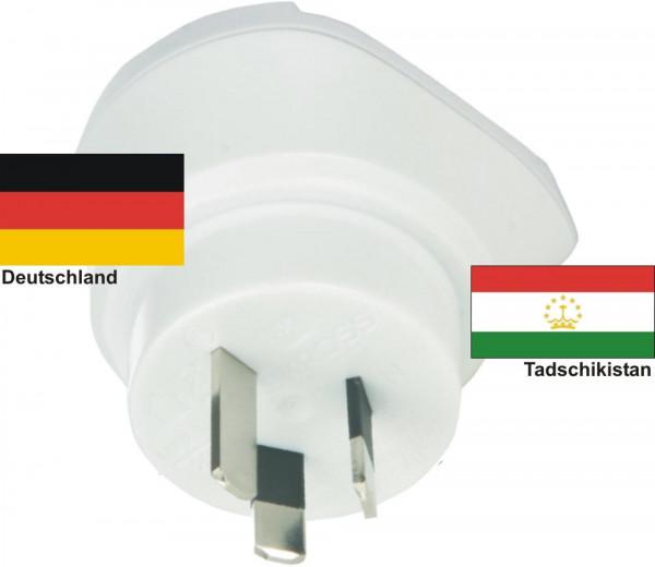Reiseadapter Tadschikistan-Deutschland - Skross 1.500209 Reisestecker