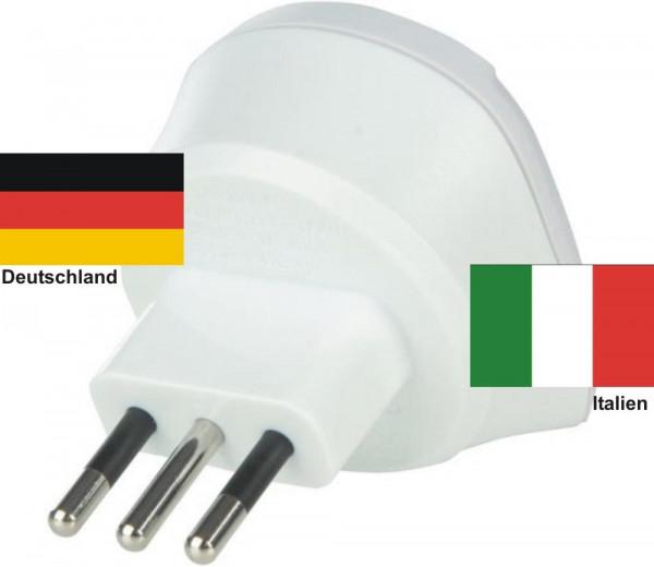 Reiseadapter Italien auf Deutschland Skross Single Travel Adapter 1.500212