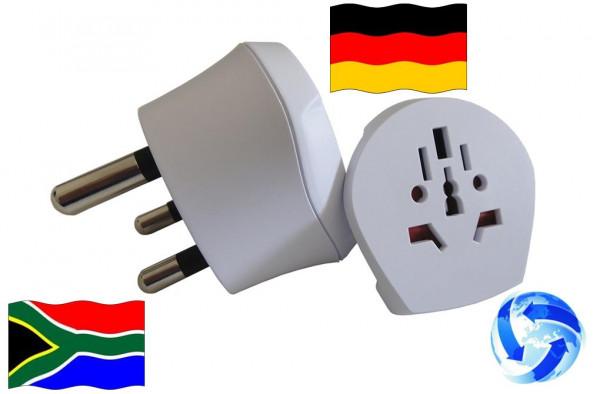 Reiseadapter Welt auf Südafrika + Deutschland - Kombi Adapter 1.500202