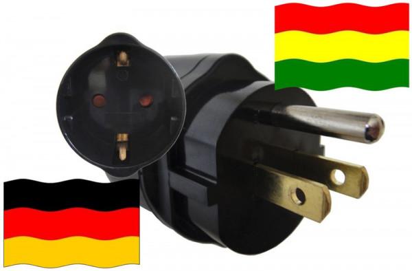 Urlaubsadapter Bolivien für Geräte aus Deutschland
