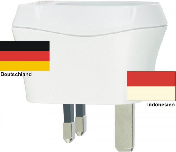 Reiseadapter Indonesien auf Deutschland Skross 1.500230 Reisestecker