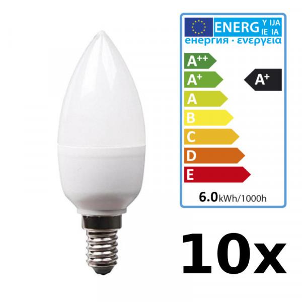 10Stück XQ-lite LED Kerze XQ13188/2 Kerzenform E14 Fassung, 2700K, warmweiß matt
