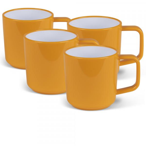 Picknick-Geschirr, 4er Set Tassen Terracotta Kampa