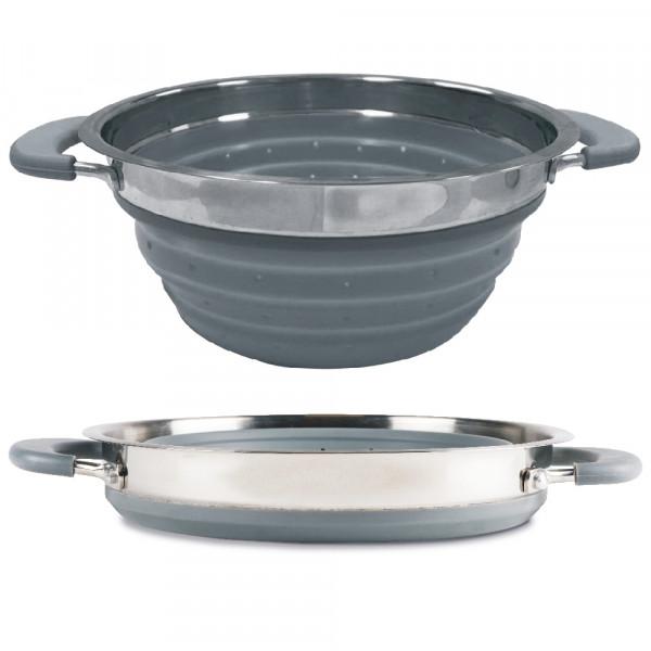 Faltbares Sieb - Leichtgewicht Kochgeschirr - 20cm Kampa CW0100 grau