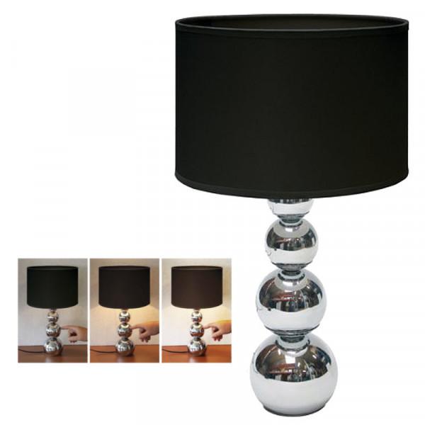 Edle Touch-Lampe, mit schwarzem Textilschirm Ranex 10.011.97