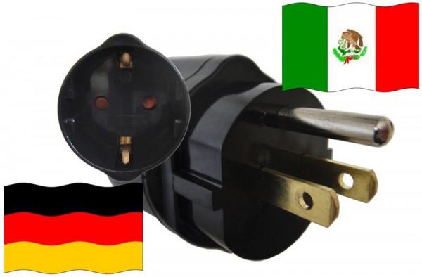 Urlaubsadapter Mexiko für Geräte aus Deutschland