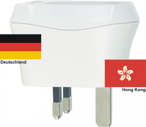 Reiseadapter Hong Kong auf Deutschland Skross 1.500230 Reisestecker