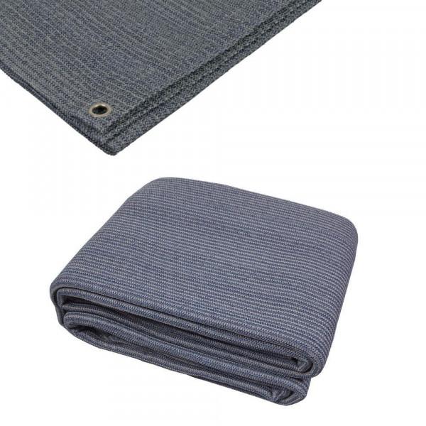 Vorzelt-Teppich 4 x 4 Meter = 16qm mit Ösen Dometic 9120000470 blau-grau