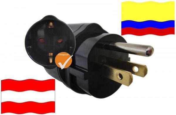 Urlaubsadapter Ecuador für Geräte aus Österreich