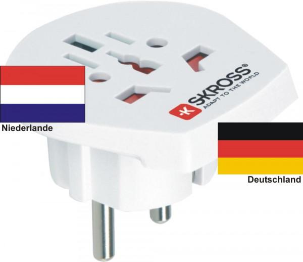 Reiseadapter Deutschland - Niederlande - Skross 1.500211 Reisestecker
