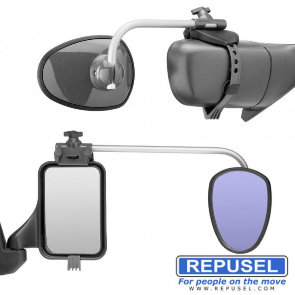 Caravanspiegel Luxmax, Arm lang, zusätzlicher Autospiegel Repusel 3006