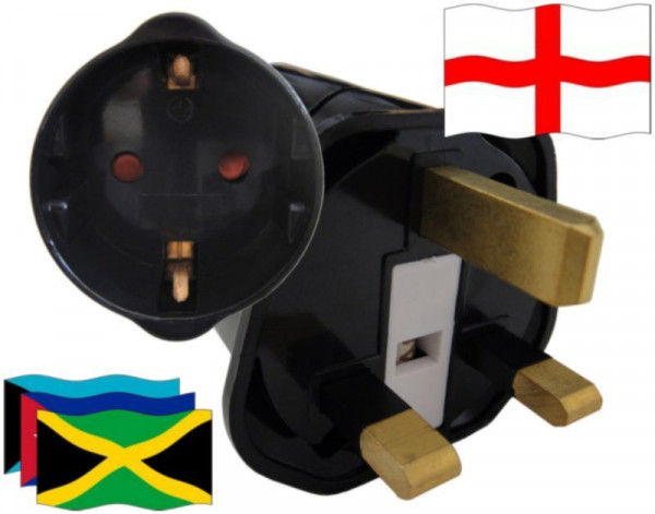Reiseadapter England für Geräte aus Karibik
