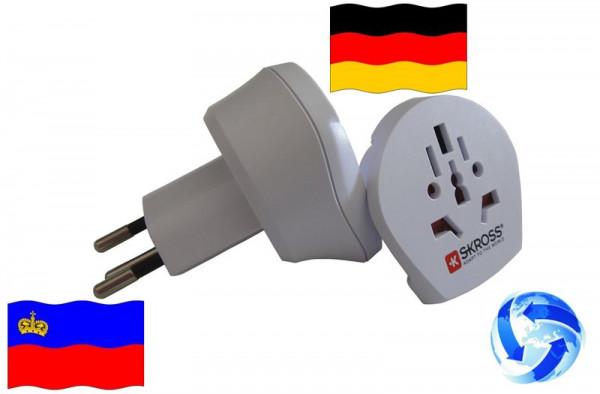 Reiseadapter Welt auf Liechtenstein+Deutschland-Kombi Adapter 1.500206