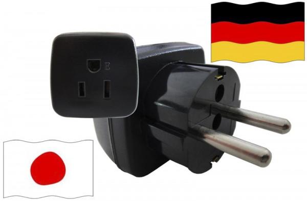 Urlaubsstecker Deutschland für Geräte aus Japan