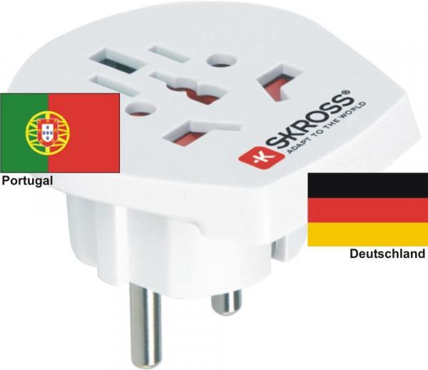 Reiseadapter Deutschland auf Portugal - Skross 1.500211 Reisestecker