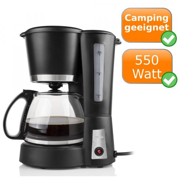 Kleine Single Kaffeemaschine, ideal für Camping Tristar CM-1233 Mattschwarz