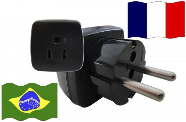 Urlaubsstecker Frankreich für Geräte aus Brasilien