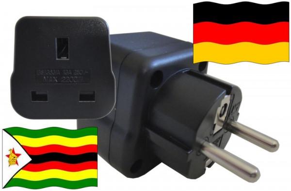 Urlaubsstecker Deutschland für Geräte aus Simbabwe
