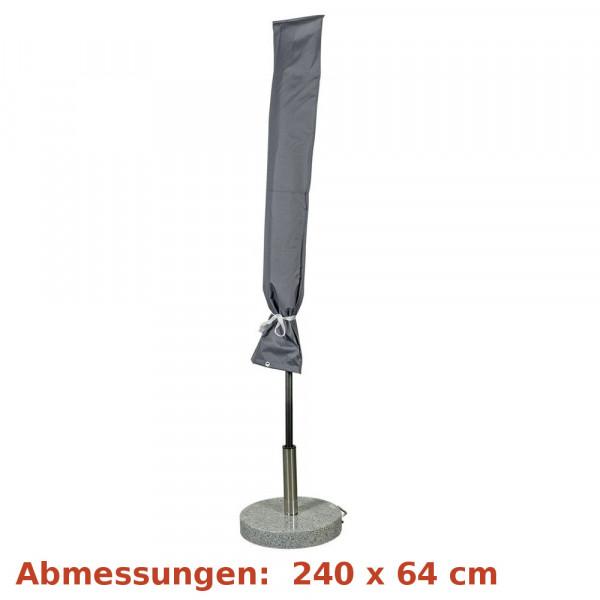Deluxe Schutzhülle für Sonnenschirm 450cm grau Happy People 79343