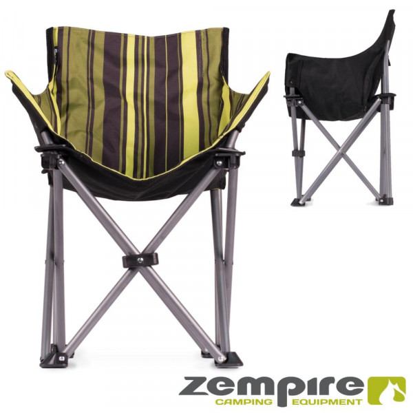 Kinder Campingstuhl - gepolsteter Lounge-Sessel für EXTREMEN Komfort – Streifenmuster Zempire Mini M