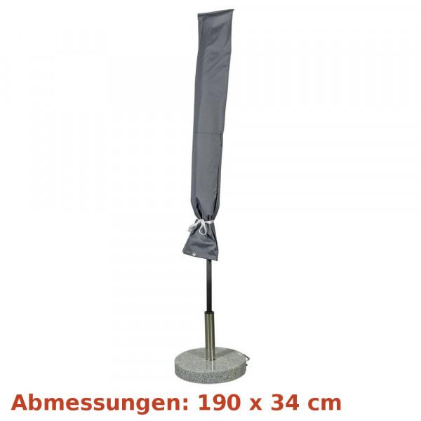 Deluxe Schutzhülle für Sonnenschirm 200 - 410cm grau Happy People 79332