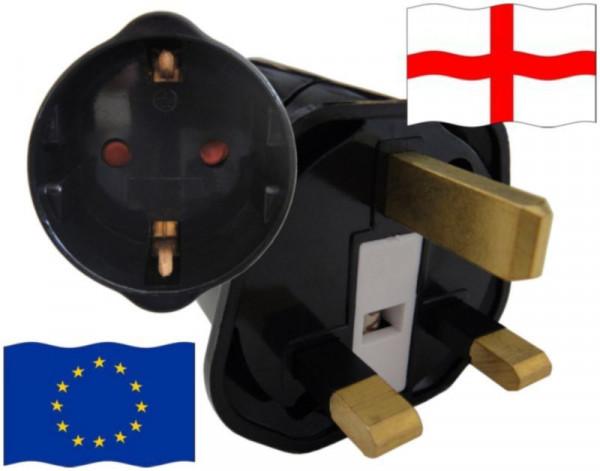 Reiseadapter England für Geräte aus Europa