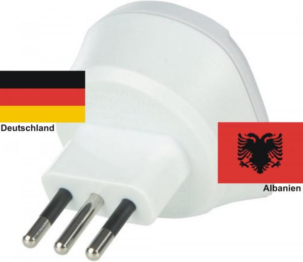 Reiseadapter Albanien auf Deutschland Skross Reisestecker 1.500212