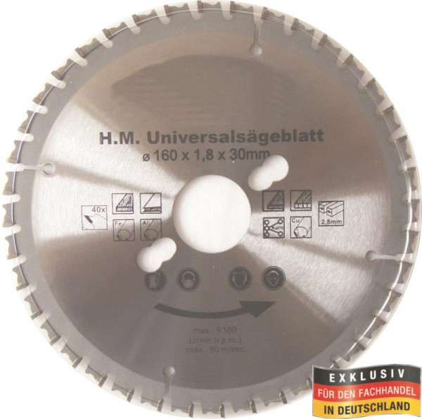 Multi Sägeblatt 160 x 30,0mm 40 Zähne Kreissägeblatt
